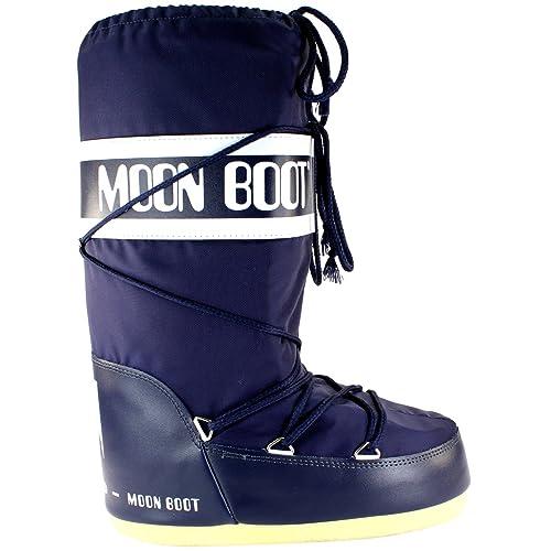 Moon Boot Mens Tecnica Nylon Waterproof Mid Calf Snow Winter Rain Boot -  Blue - 11 87da51171e3