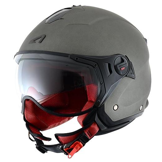 19 opinioni per Astone Helmets- Casco Jet Mini Sport, colore grigio, taglie M