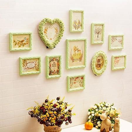 DZW Photo Wall Solid Wood Personality Retro Hanging Wall Heart ...