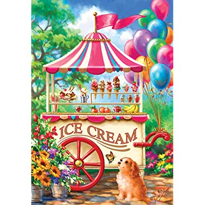 SUNSOUT INC Ice Cream Cart 100 pc Jigsaw Puzzle: Toys & Games