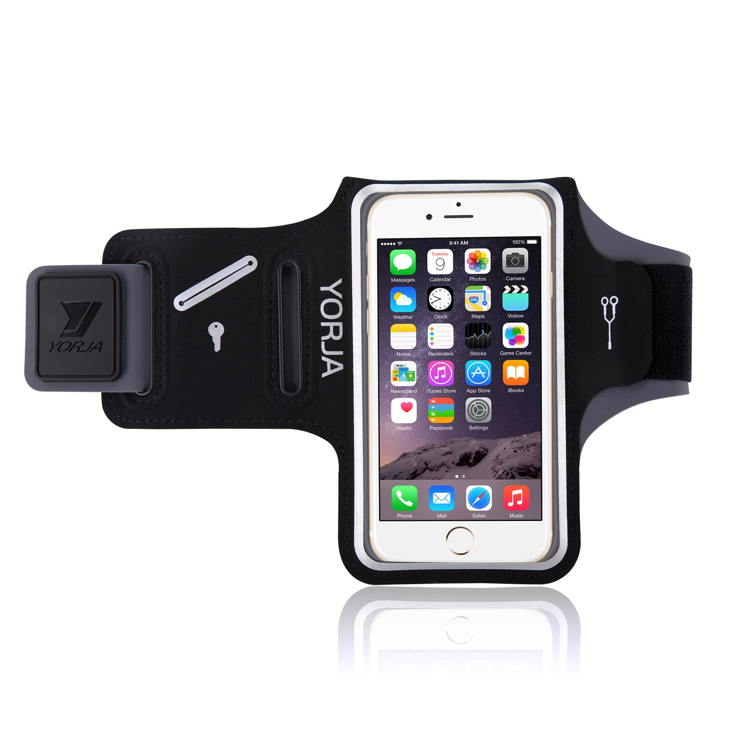 Running Armband For Cell Phone Yorja Iphone X Xs Xr Xs Max 8 Plus 7 Plus 6 Plus Galaxy S9 S8 S7 Edge Arm Holder For Jogging Hiking Workout Fitness