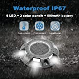 CHINLY Solar Driveway Lights LED Deck Dock Light