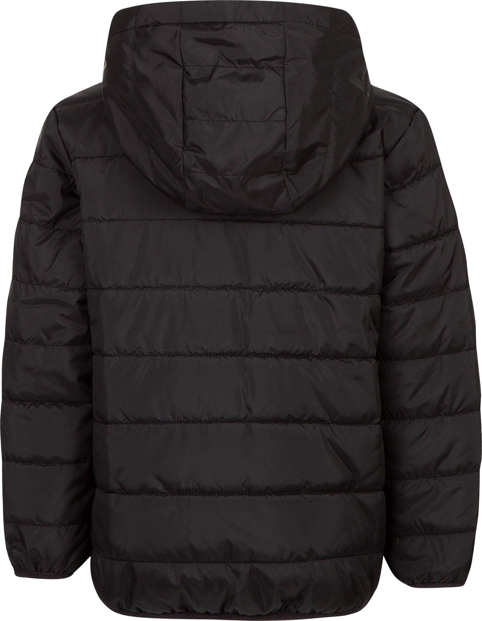 Nike Boy's Polyfill Quilted Insulated Puffer Jacket (Black, 4) by Nike (Image #2)