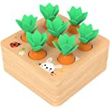 Ancaixin Wooden Toys for 1 Year Old Boys and Girls Montessori Shape Size Sorting Puzzle Carrots Harvest Developmental…