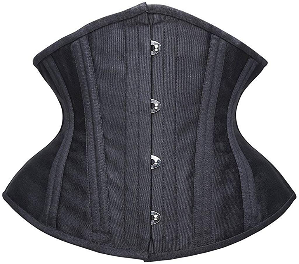 SHAPERX Women Curvy Waist Heavy Duty Double Steel Boned Waist Trainer Corsets