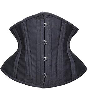 9bde019a48 Camellias Women Short Torso Curvy Waist Heavy Duty Double Steel Boned Waist  Trainer Corsets