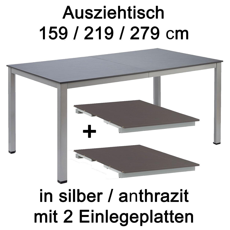 Amazon De Kettler Ausziehtisch 159 219 279 Cm In Silber