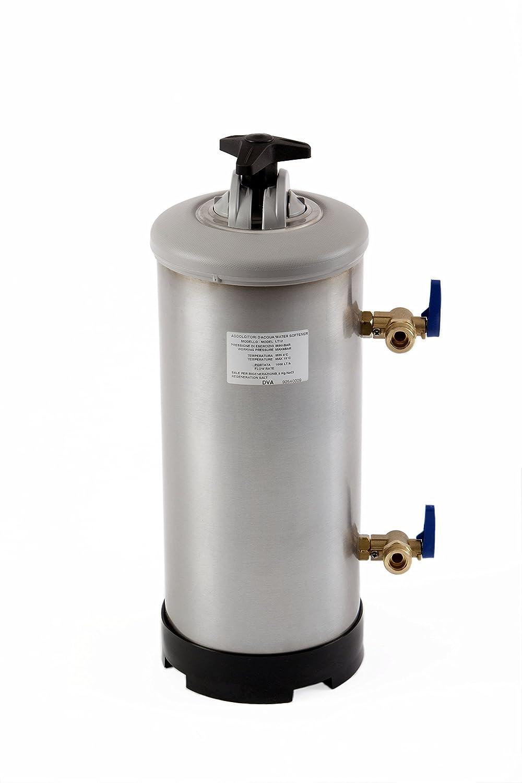 Classeq Adoucisseur d'eau manuel WS12-SK en acier inoxydable, 12 l 12l