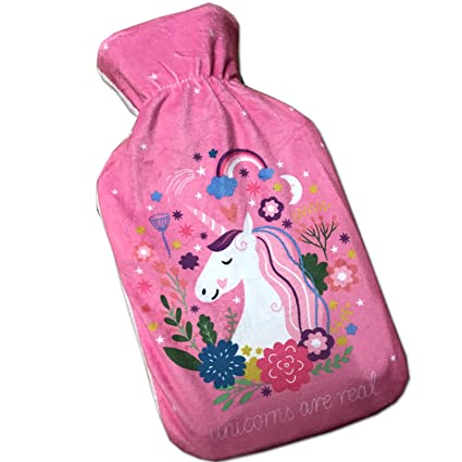 Bolsa de agua caliente infantil Unicornio, tapizado con ...