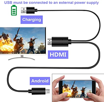 F YL 11 Pin /& 5 Pin Micro USB MHL to HDMI 1080P HD TV Cable for Android NOTE4 S5 Z3 2