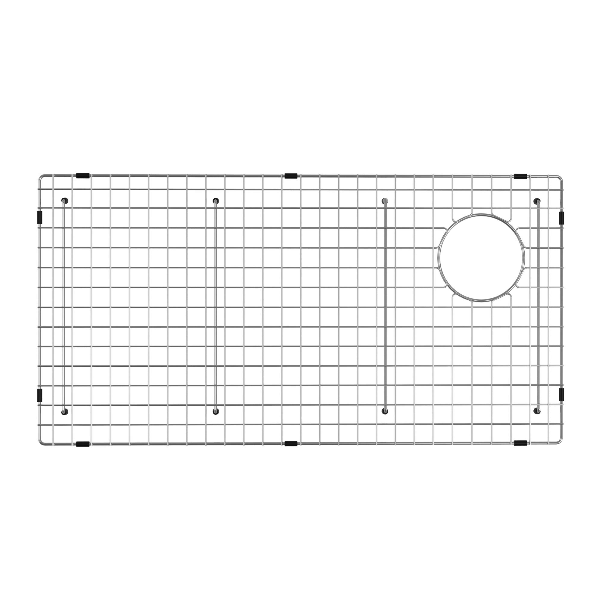 KRAUS KBG-GR2514 Bellucci Series Stainless Steel Kitchen Sink Bottom Grid with Soft Rubber Bumpers for 30-inch Kitchen Sink by Kraus