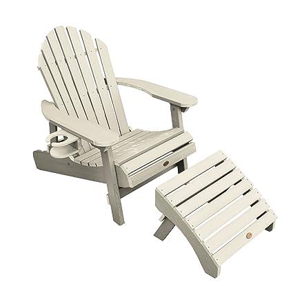 Highwood 1 Hamilton Folding u0026 Reclining Adirondack Chair with 1 Ottoman u0026 1 Easy-add  sc 1 st  Amazon.com & Amazon.com : Highwood 1 Hamilton Folding u0026 Reclining Adirondack ...