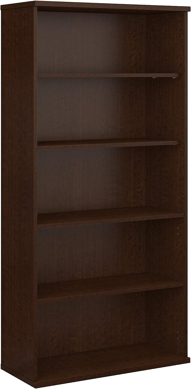 Bush Business Furniture 5 Shelf Bookcase, Mocha Cherry