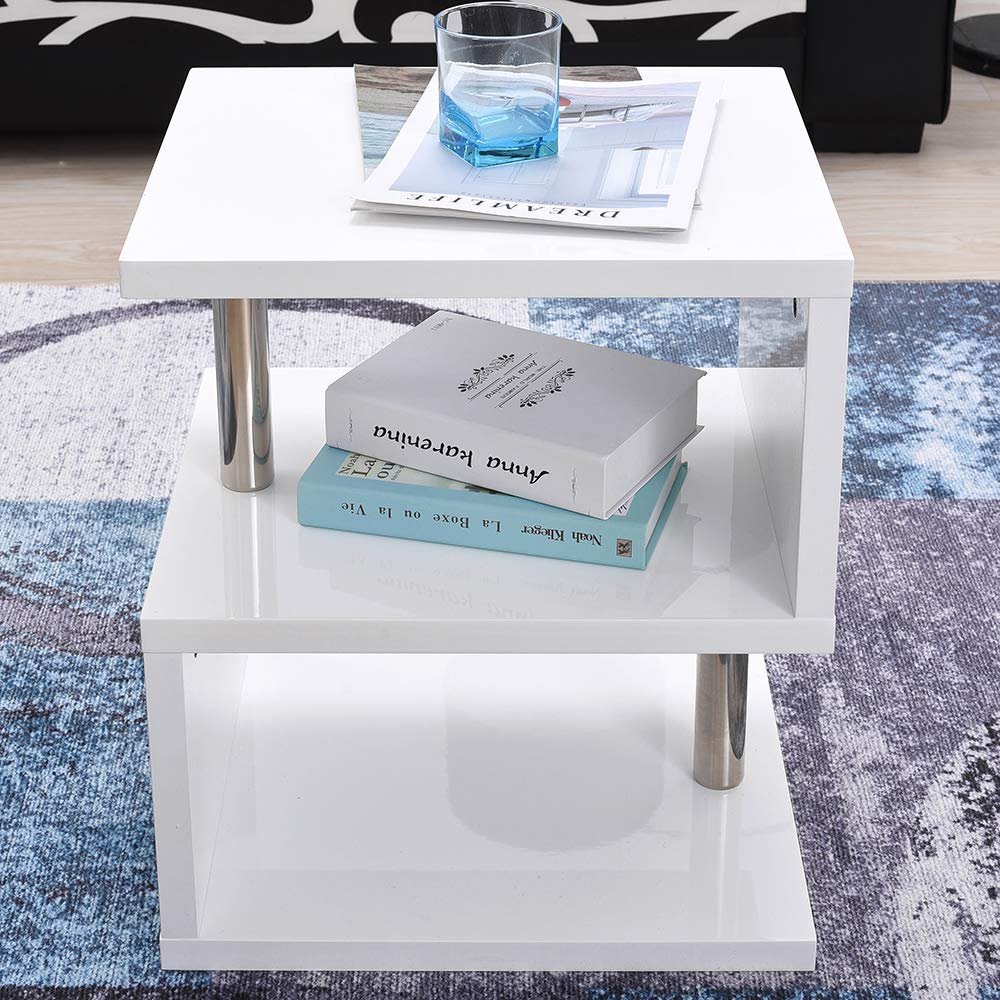 Soddyenergy Alaska Table dappoint avec lumi/ères LED Bleues Blanc Brillant
