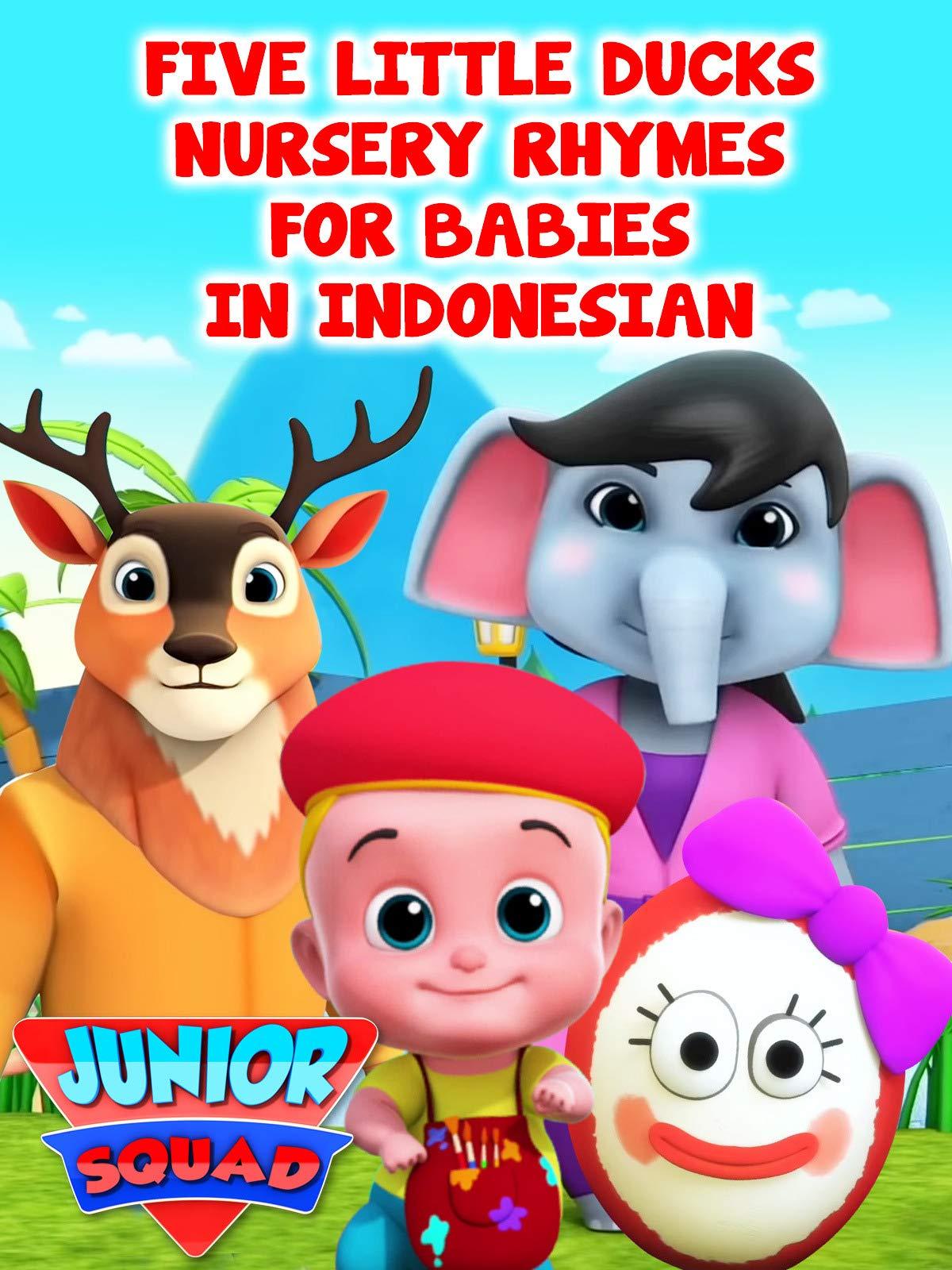 Five Little Ducks Nursery Rhymes for Babies in Indonesian