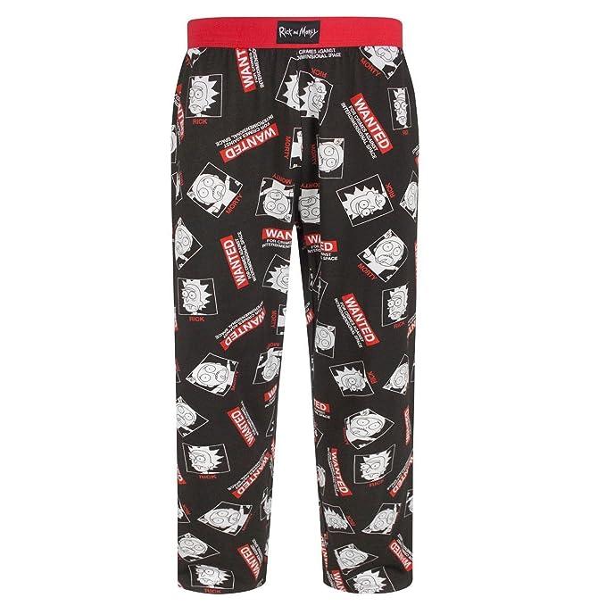 Rick and Morty - Pantalón de Pijama Modelo Wanted para Hombre: Amazon.es: Ropa y accesorios