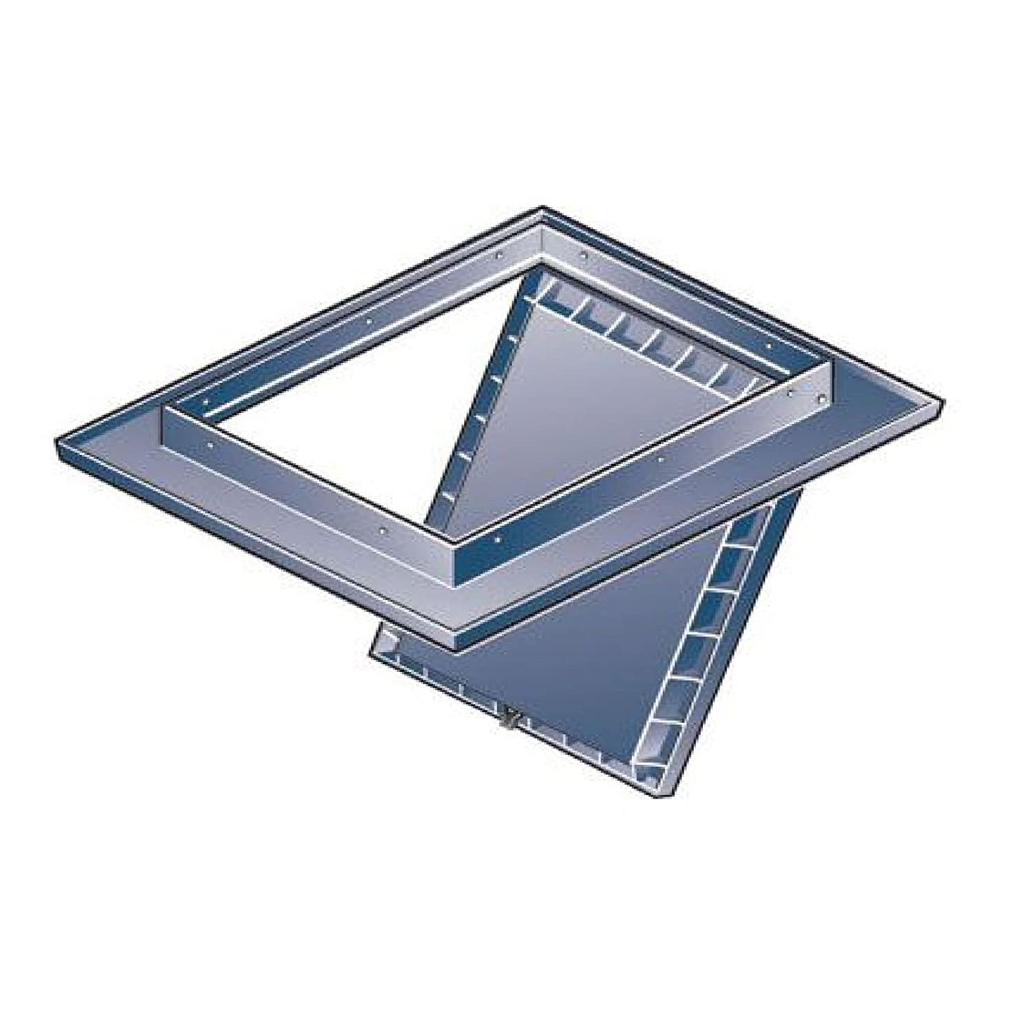 White Loft Trap Door with Opening Pole Hinged Drop Down Insulated Hatch Access Door Attic by SmartHome