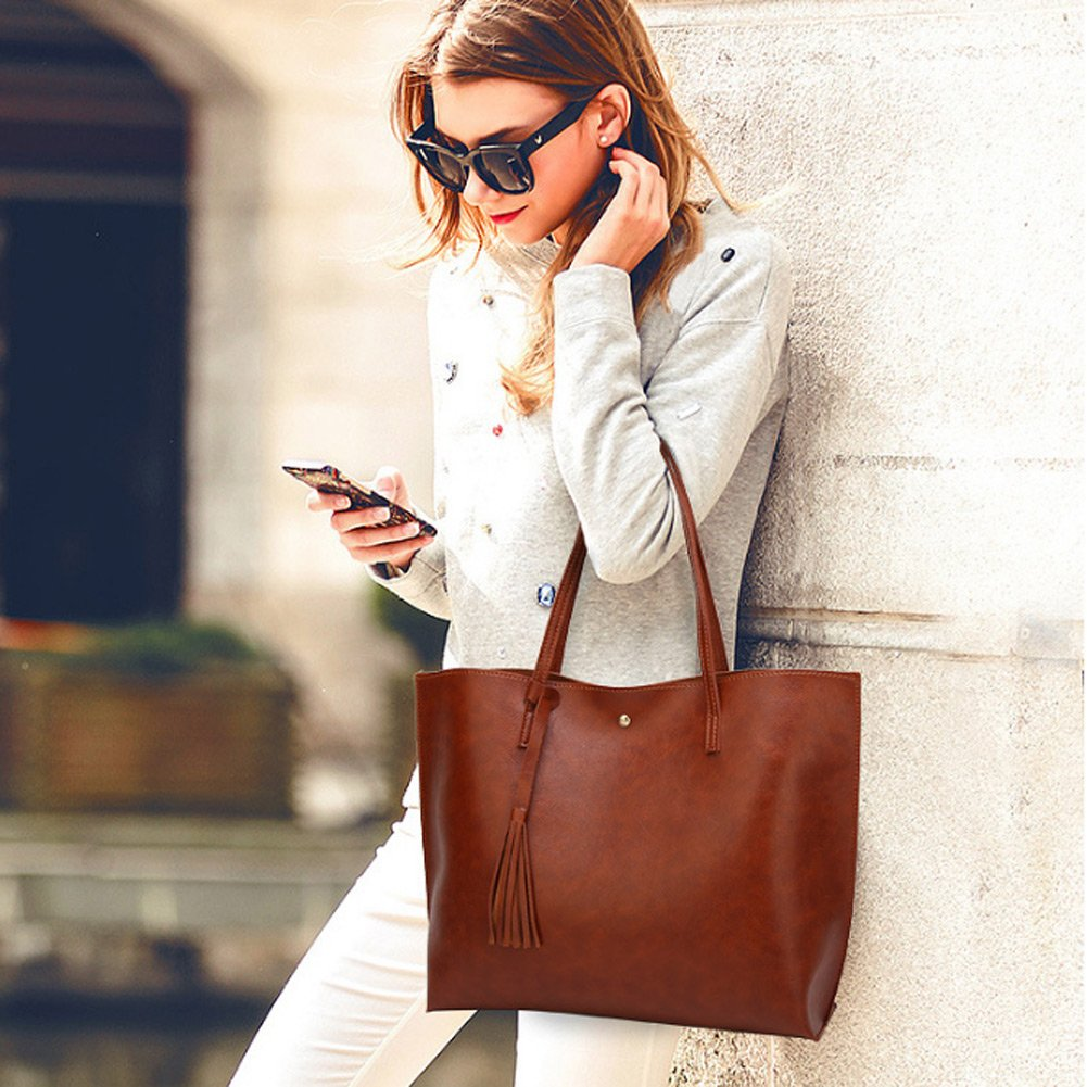 Forestfish Leather Women Tote Bag Handbags Satchel Bags for Work Travel by Forestfish (Image #2)