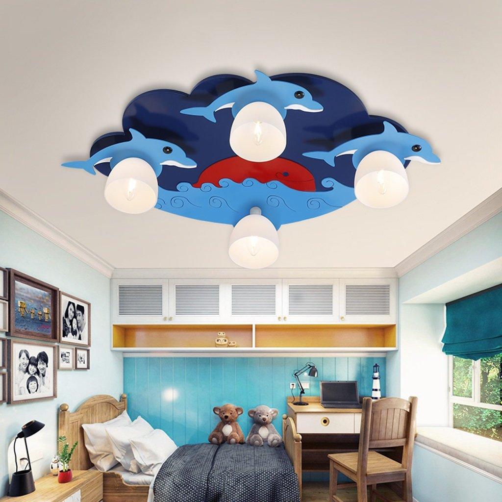 Personalidad de Dibujos Animados iluminación de la habitación de los niños lámpara de Techo Creativa LED Moderno Dormitorio de la Sala de Estar del ...