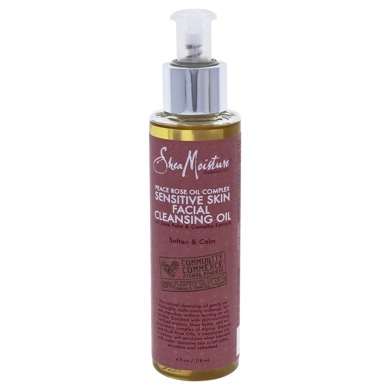 Shea Moisture Sheamoisture Peace Rose Oil Complex Sensitive Skin Facial Cleansing Oil - 4 Oz