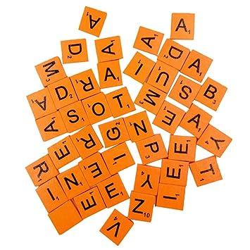 100 PCS Mehrfarbig Holz Buchstaben Taste DIY Craft Nähen ...