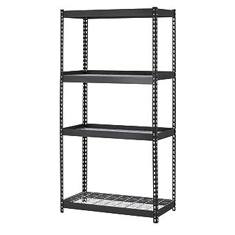 muscle rack trk361860w4 depth steel shelving unit 4shelf 36u0026quot