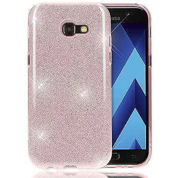 NALIA Purpurina Funda Compatible con Samsung Galaxy A5 2017, Carcasa Protectora Movil Silicona Ultra-Fina Glitter Bumper Estuche, Lentejuela Cubierta ...