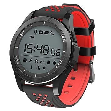 Padgene Reloj Inteligente Pulsera Digital Smartwatch (Negro Rojo ...