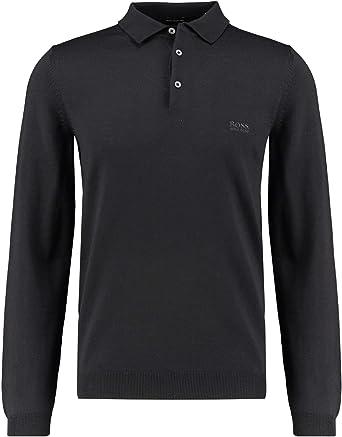 BOSS Hugo Bono-L 001 50419385 - Jersey de Lana Polo, Color Negro ...