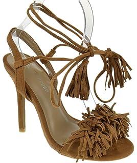 ab030f3fdce1 Forever Link Rubina 57 Womens Fringe Open Toe High Heel Sandals
