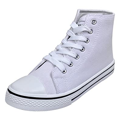 vidaXL Damen High Top Sneaker Turnschuhe Sportschuhe Canvas Schnür Schuhe Gr.37
