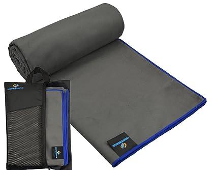 hopeshine microfibra toalla de viaje y Camping toalla de baño hojas tamaño, ligero y compacto