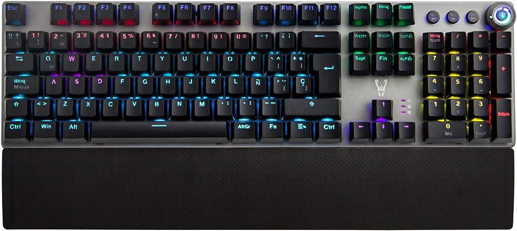 Oferta amazon: Woxter Stinger RX 1000 Kr - Teclado Gaming Mecánico, Estructura de Aluminio, Micro Switch, Retroiluminado, Anti-Ghosting, Cable de Nylon, Compatible PC/PS4/Fortnite/Apex Legends