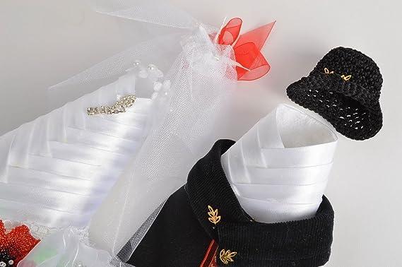 Decoracion para botellas de cava trajes de novios artesanal original conjunto: Amazon.es: Hogar