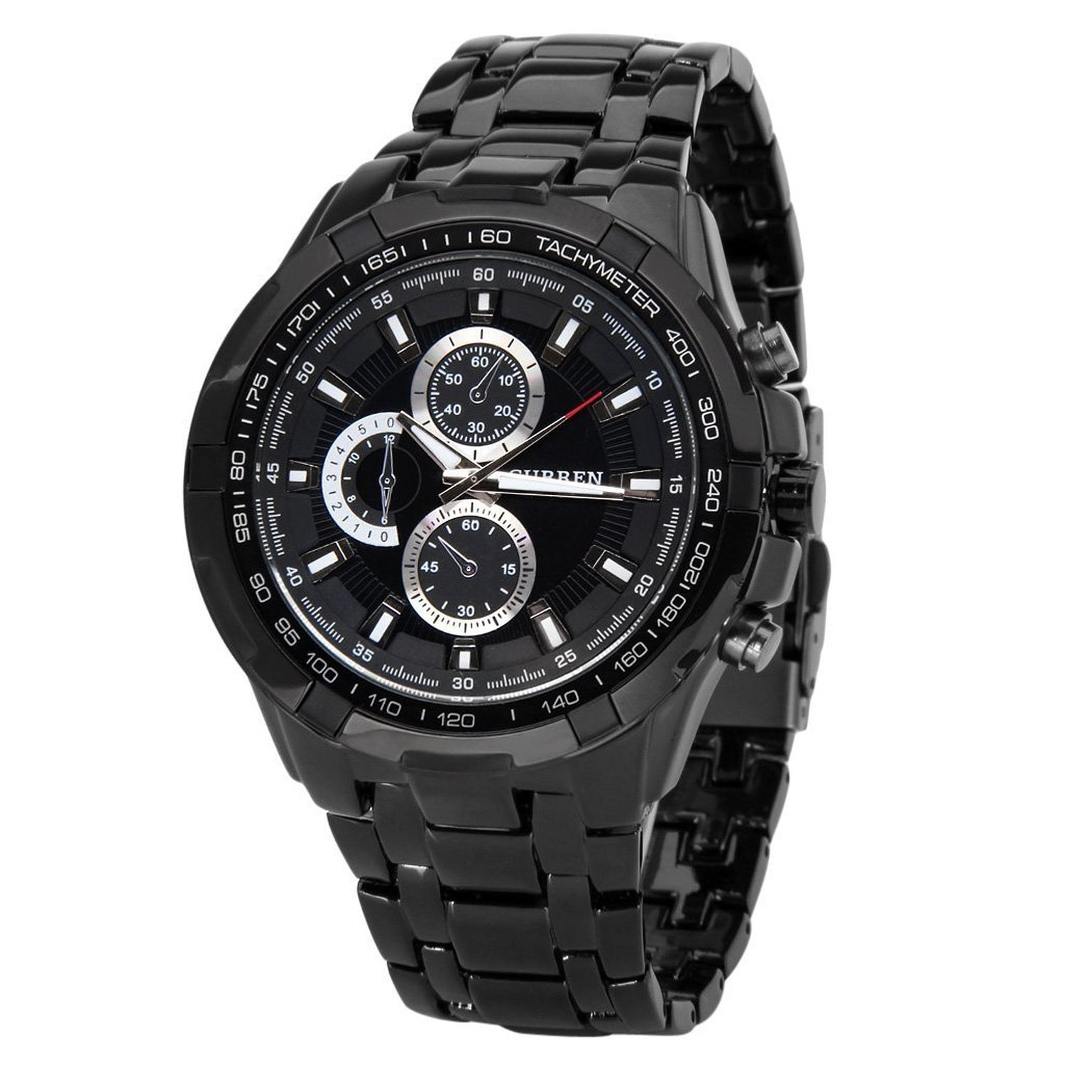 Amazon.com: Fanmis Black Stainless Steel Luxury Sport Watches Mens Analog Quartz wrist Watch: Watches