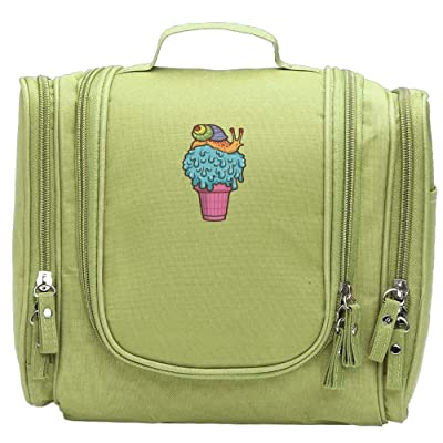 Crazy Snail Cone Travel Cosmetic Bag Hanging Makeup Pouch Toiletry Organizer