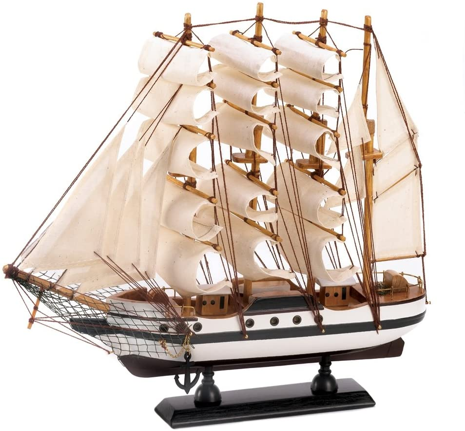 The Passat Tall Ship Detailed Wooden Model Boat Nautical Decor