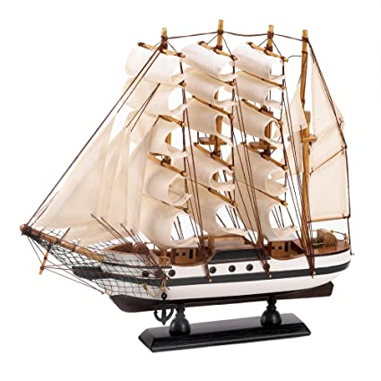 Amazon Gifts Decor Passat Tall Ship Detailed Wooden Model Nautical Home Kitchen