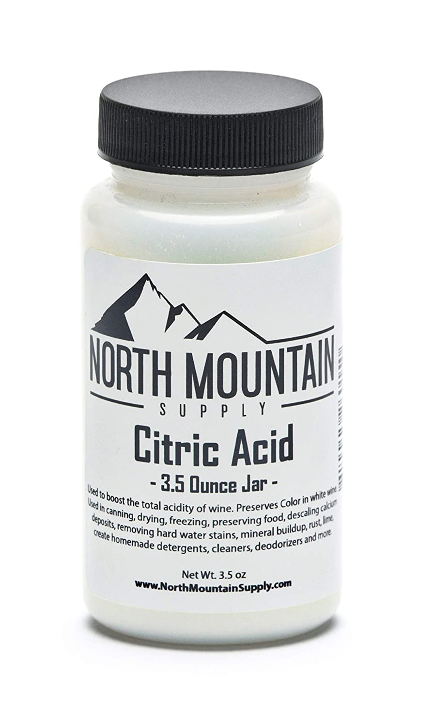 North Mountain Supply - CA-3.5oz Pure Food Grade Citric Acid - 3.5 Ounce Jar