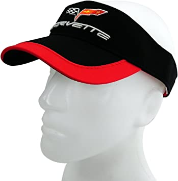 Bundle with Driving Style Decal Gregs Automotive Corvette Stingray Visor Hat Red