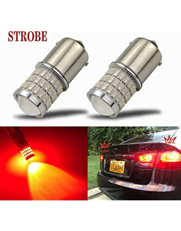 iBrightstar Newest 9-30V Flashing Strobe Blinking Brake Lights 1156 1141 1003 BA15S LED Bulbs