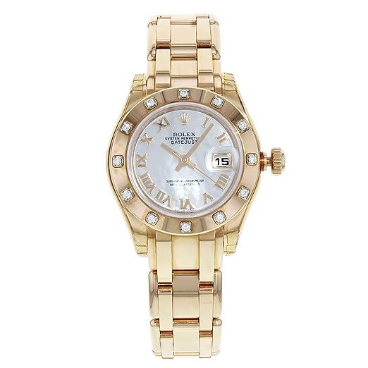 Rolex Datejust 80315 Pearlmaster - Reloj de Pulsera para Mujer, Oro Rosa: Amazon.es: Relojes