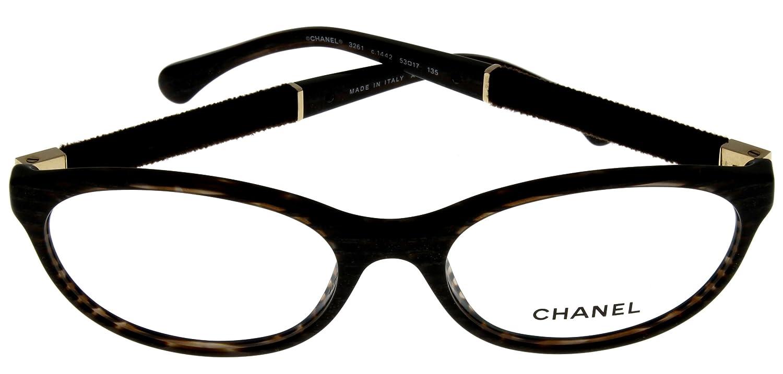 2fbfbde33d Amazon.com  Chanel Prescription Eyeglasses Frame Brown Women CH3261 1442  Oval  Clothing