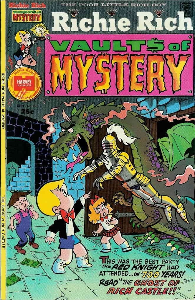 Richie Rich Vaults of Mystery #6 VG ; Harvey comic book