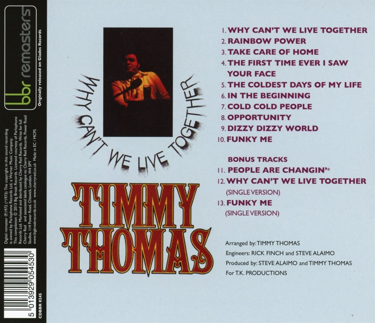 Why Can'T We Live Together: Expanded Edition /  Timmy Thomas