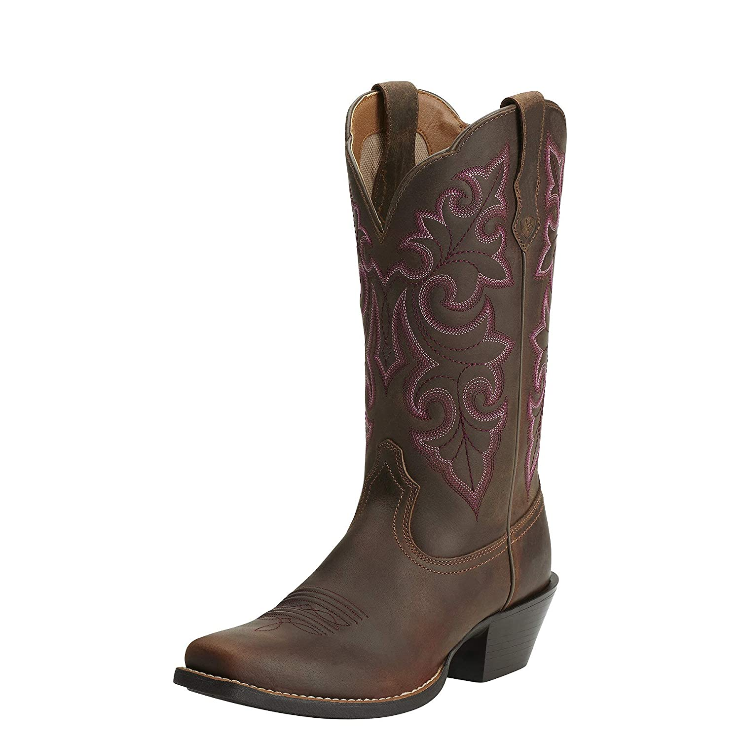 64c34977332 Ariat Women's Round Up Square Toe Western Cowboy Boot