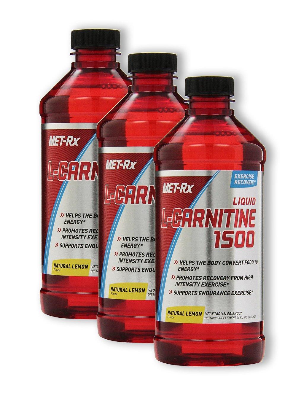 MET-Rx L-Carnitine 1500 - Lemon (3 Pack)