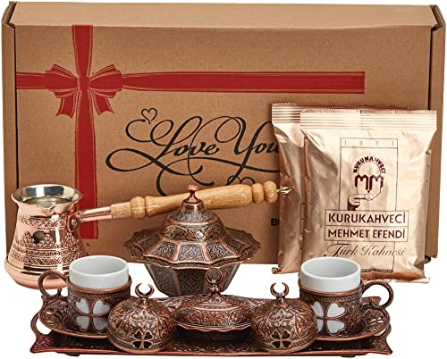 Bosphorus Turkish Greek Arabic Coffee Making Serving Gift Set