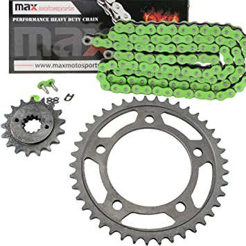 O-Ring Chain and Sprocket Kit Gold 1993-2007 Honda Shadow VLX 600 VT600CD Deluxe