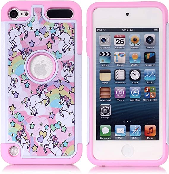 Flamingo Glitter Printed Design Soft Plastic Case Cover For iPod Touch 5//6th Gen